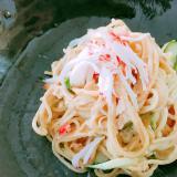 ツナのサラスパ☆美味しいカレー風味