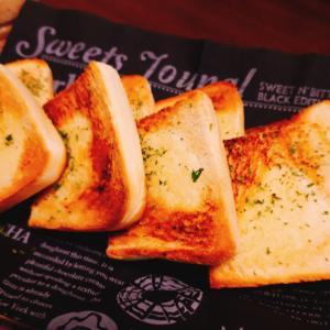 食パンで作るガーリックトースト