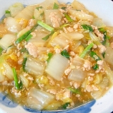 白菜の鶏そぼろ煮