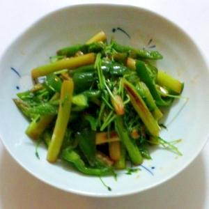 グリーン野菜のオイスター醤油炒め