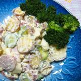 薩摩芋と魚ニソと林檎のサラダ
