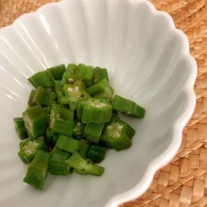 オクラの麺つゆとポン酢和え