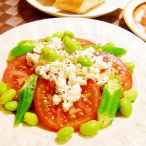 カッテージチーズと夏野菜のサラダ