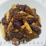 茄子と挽肉のバルサミコ炒め