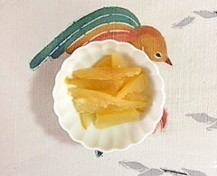 晩白柚の皮の甘煮
