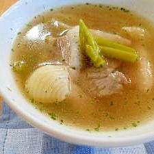 パンチェッタとアスパラのスープ