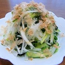 大根・きゅうり・わかめのサラダ