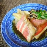 金目鯛と貝割れの煮付け