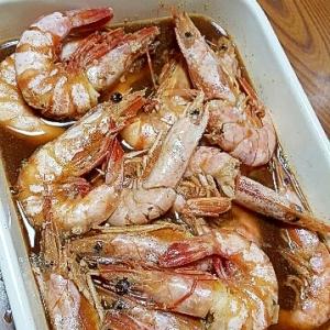 お節の定番☆いろどりきれいな海老の旨煮