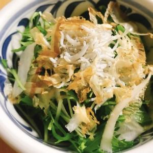 水菜としらすのさっぱりポン酢サラダ