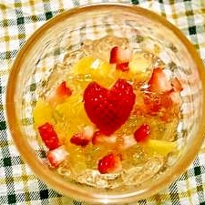 キラキラ☆クラッシュゼリーでフルーツポンチ♪