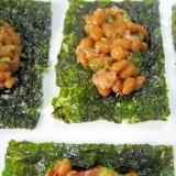簡単!ピリ辛!☆韓国のりと納豆のおつまみ☆
