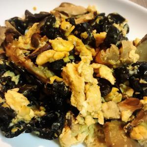 キクラゲと卵の中華炒め