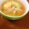キャベツとカニカマの卵スープ