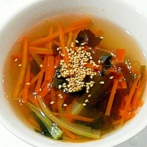 シャキシャキ野菜スープ