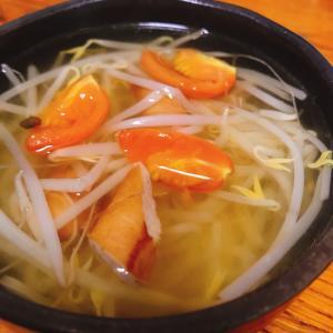 【簡単】もやしとトマトの洋風スープ