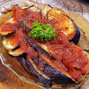 茄子とトマトのシンプルオリーブオイル焼き