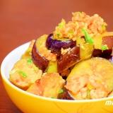 鶏挽肉と茄子の味噌炒め