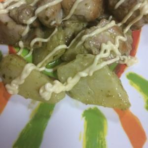 チキン&ポテトのバジル焼き(*´ェ`*)