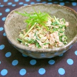 ツナと水菜のサラダ