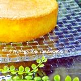 HMで簡単ノンオイル材料3つふわふわスポンジケーキ