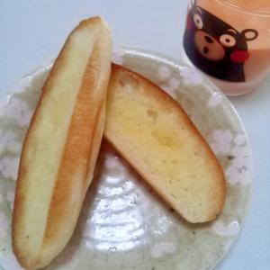 シュガーバターロールトーストwith野菜牛乳