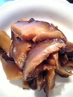 冷凍保存用に麺類のトッピングに干し椎茸の甘煮♪