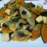 イカと野菜のオイスターソース炒め