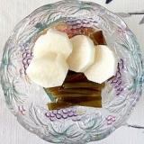 長芋、茎わかめの和え物