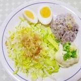 豆腐とツナのポテトサラダのダイエットワンプレート