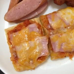 【糖質制限】フライパンで油揚げピザ