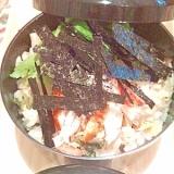 巻きずしの残り物「蒸し寿司」