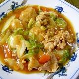 簡単!美味しい!豚肉と肉団子と白菜の麻婆風旨煮!