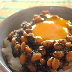 すぐにおいしい、海苔の佃煮入り味噌納豆♪