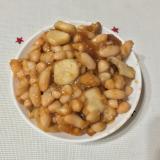 超簡単! 白いんげん豆の照り焼き丼