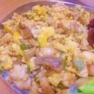 お弁当のご飯の上に♪舞茸と鶏そぼろ煎り玉子
