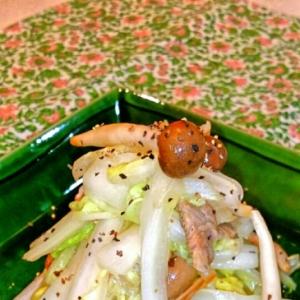 ⭐塩揉み白菜⭐豚バラのウマ塩炒め♪