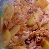 「豚肉とジャガイモのパスタベース炒め」  ♪♪
