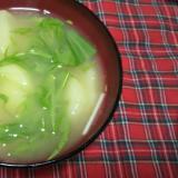 メークインと水菜の味噌汁♪