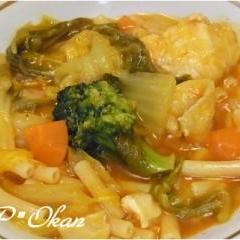 簡単☆ムネ肉と白菜のケチャップ煮
