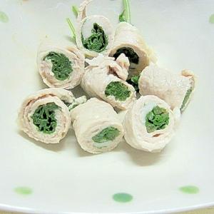 水菜の豚肉ロール