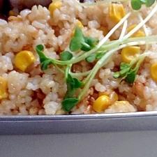 コーンが甘い☆玄米コーンご飯