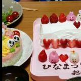 簡単ひなまつりケーキ
