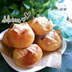 減塩対応☆甘い香りのココナッツレーズンパン