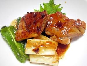 鶏もも肉とネギのキジ焼き風