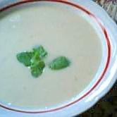 ジャージー牛乳で作るそら豆の冷製スープ