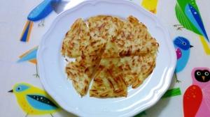細切りポテトのパンケーキ