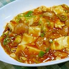 豆腐がおいしい 豆腐入りエビチリ
