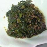 ふきの葉の醤油炒め煮