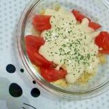 アルファルファのピーナツ豆腐クリーム和え